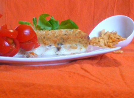 Pesce spada con panatura di conflakes e pomodorini