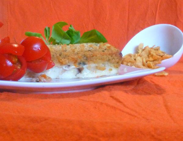 Pesce spada con panatura di cornflakes e pomodorini 3