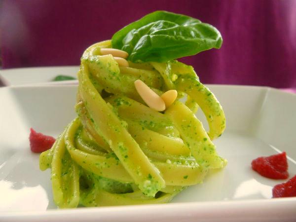 pasta pesto light