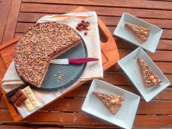 Cheesecake alla tripla nocciola pronta in 10 minuti