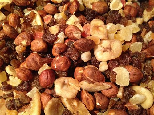Basi con frutta secca