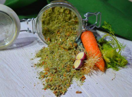 Dado vegetale granulare | Fatto solo con gli scarti della verdura