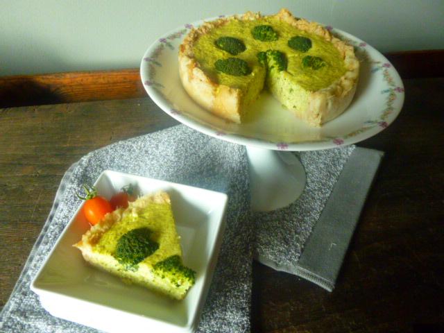 Crostata eco di pane e broccoli 015