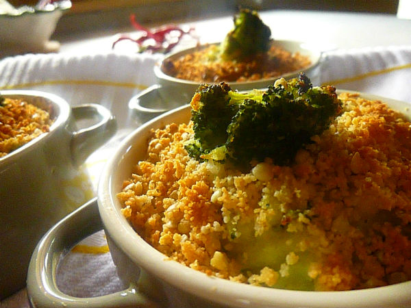 mini crumble di patate e broccoli