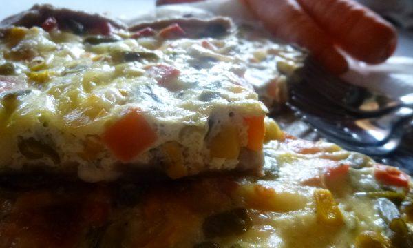 Brisé all'Aceto Balsamico con piselli, mais e carote