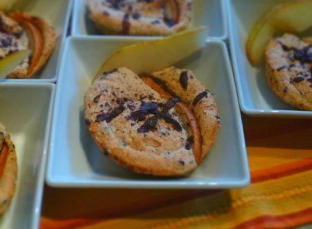 Tartellette meringate con pere e cioccolato fondente