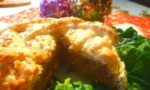 Filetto eco di lenticchie, pane e noci in crosta