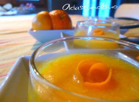 Sorbetto eco di bucce di arancia e vodka, pronto in 10 minuti