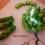 Spatzle di gambi di asparagi e crema al Parmigiano