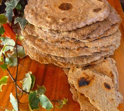 Pane integrale senza lievito, chapati