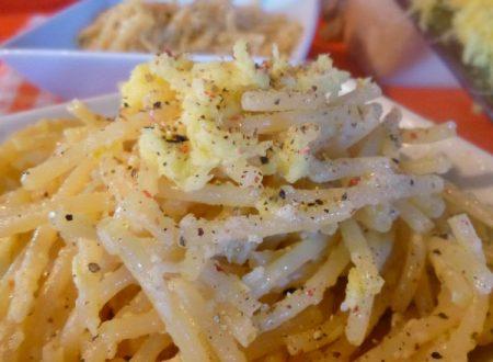 Spaghetti parmigiano, pepe e zenzero