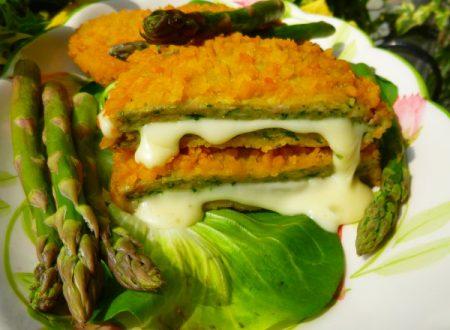 Cordon bleu con gambi di asparagi e mozzarella