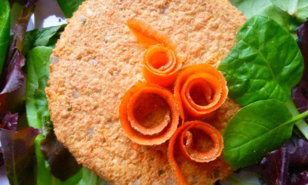 Burger di soia e bucce di carote