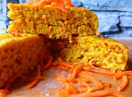 Focaccia al vapore con bucce di carote e zafferano