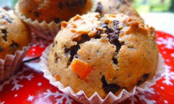 Muffin di carote e cioccolato, senza farina, senza burro