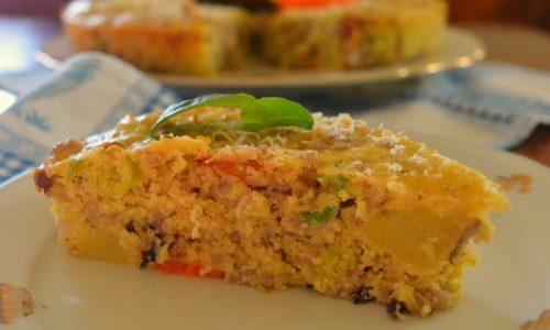 Frittata senza uova con verdure
