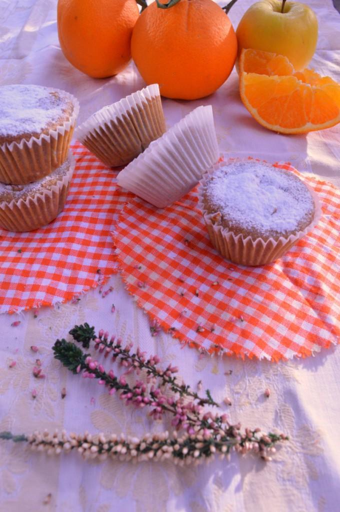 Muffin veg con succo di mela e arancia, senza zucchero