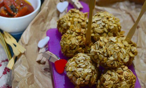 Polpette di lenticchie con panatura di avena e semi di zucca