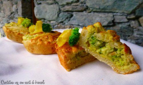 Crostatina veg con scarti di broccoli