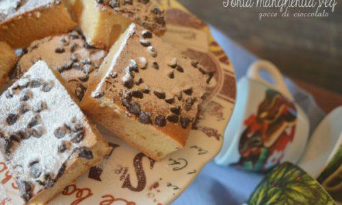 Torta margherita veg con gocce di cioccolato