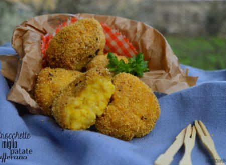 Crocchette di miglio con patate e zafferano