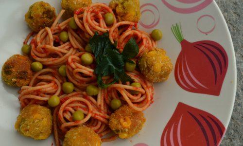 Spaghetti con le veg polpette