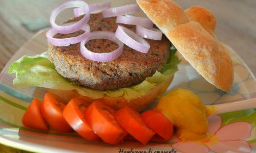 Hamburger di amaranto e scarti di finocchi