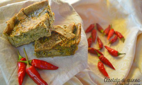 Crostata salata di quinoa e verdure, ricetta gluten free e vegan