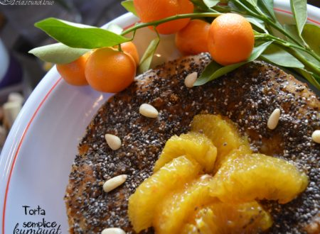 Torta semplice con kumquat e semi di chia