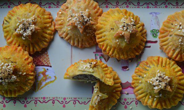 Biscotti ripieni di mele e carote viola, velocissimi