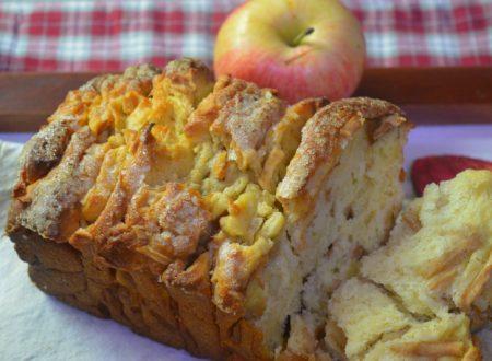 Pull apart bread vegan con mele e cannella
