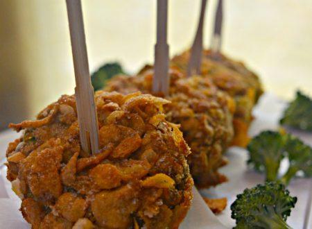 Nuggets di gambi di broccoli e corn flakes | Ricetta nuggets vegetariani con gambi di broccoli