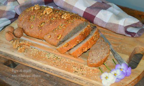 Pane di segale e noci ai semi di canapa alpina