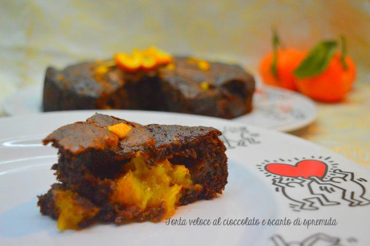 torta veloce al cioccolato e scarto di spremuta