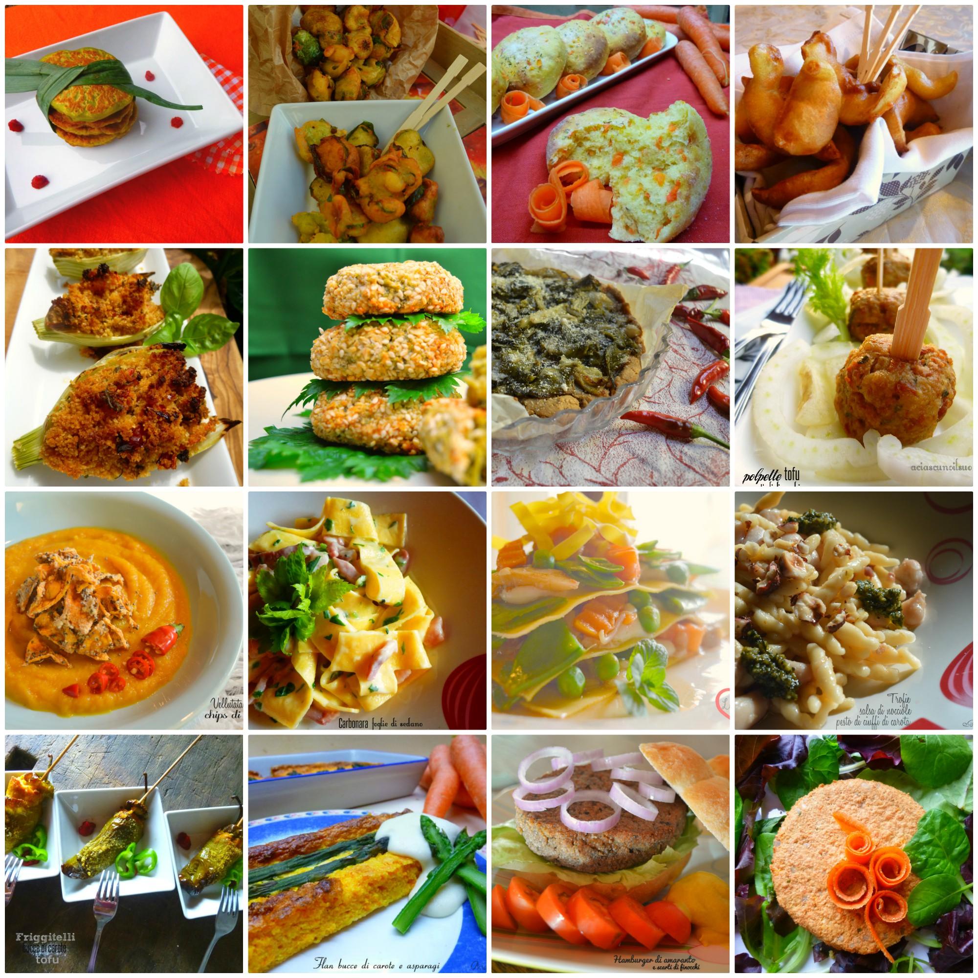Raccolta di ricette con scarti di verdure