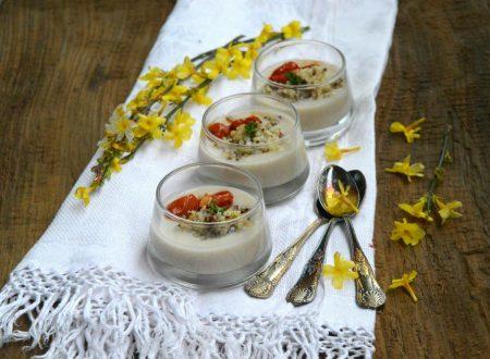 Crema di patate e topinambur con quinoa bicolore