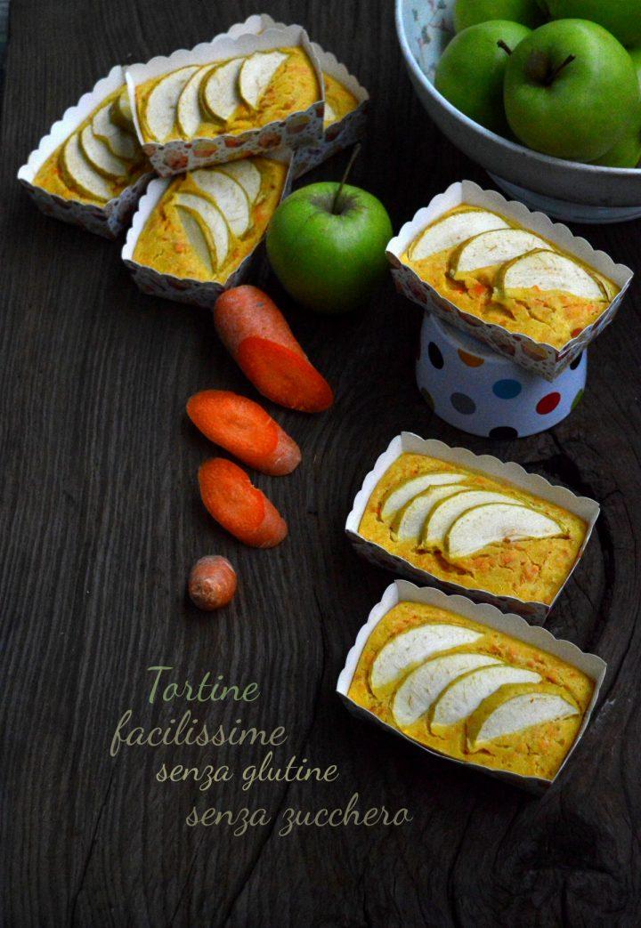 Tortine facilissime di mele e carote