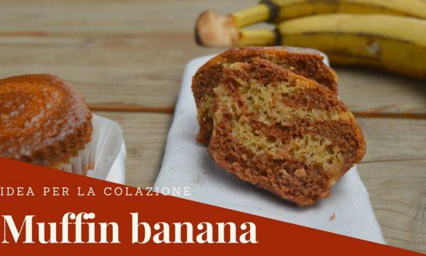Muffin banana e cacao zebrati | Ricetta senza latte, burro e uova