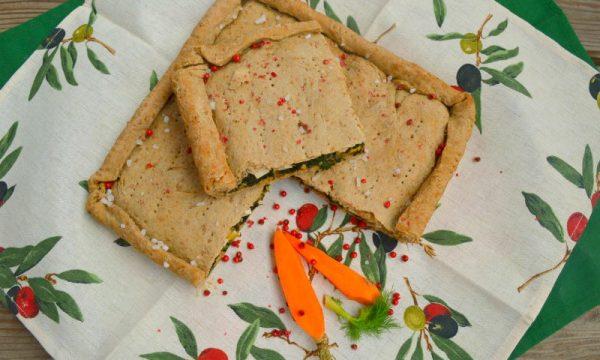 Erbazzone con bietole | Ricetta vegan con farina integrale