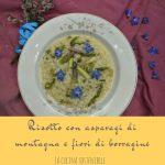 Risotto agli asparagi di montagna e fiori di borragine
