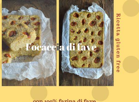 Focaccia di fave | Ricetta focaccia con farina di fave