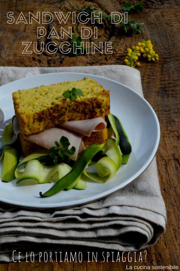 Sandwich di pan di zucchine | Ricetta panini da spiaggia