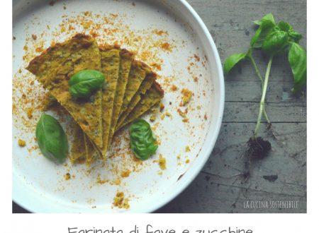 Farinata di fave con zucchine e basilico