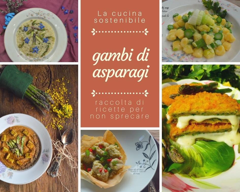 Raccolta di ricette con i gambi di asparagi