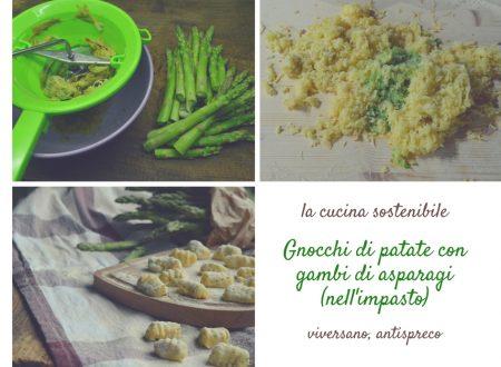 Gnocchi di patate con gambi di asparagi (nell'impasto)