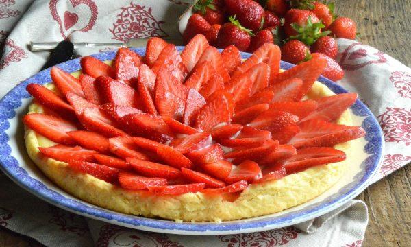 Crostata alle fragole| Ricetta crostata alle fragole