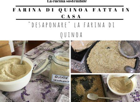 Desaponare la quinoa | Ricetta farina di quinoa fatta in casa