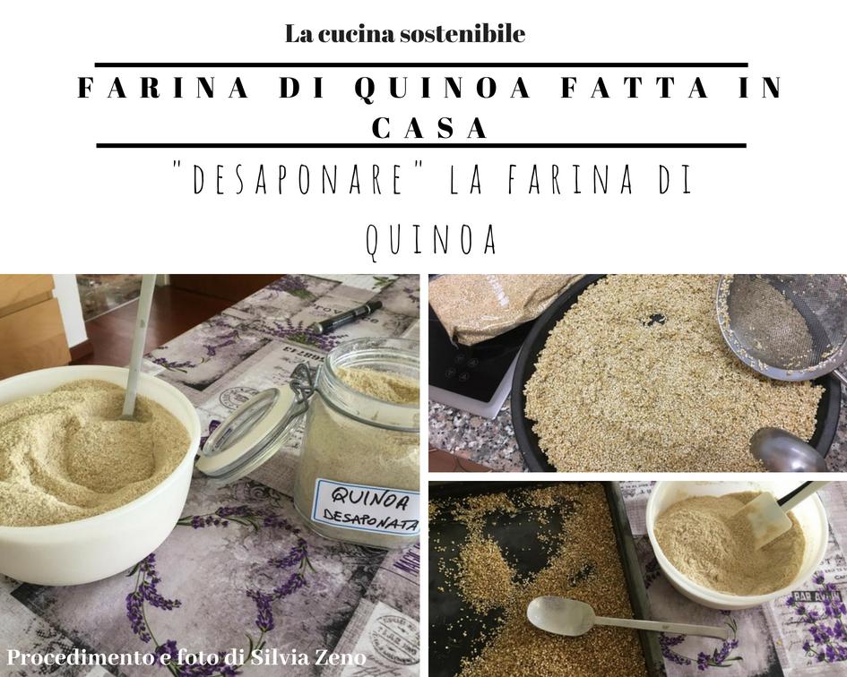 Desaponare la quinoa per fare la farina | Ricetta farina di quinoa fatta in casa