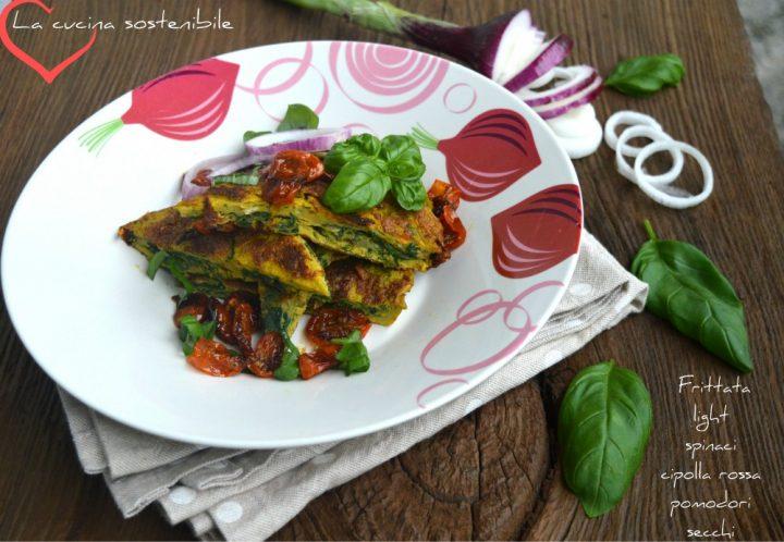 frittata light con spinaci