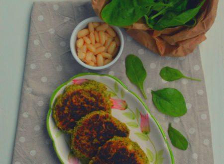 Hamburger vegetariani di fagioli e spinacini